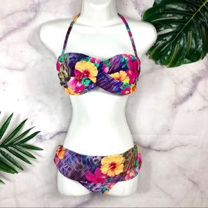 Nanette Lepore Tropical 2pc Bikini Swimsuit